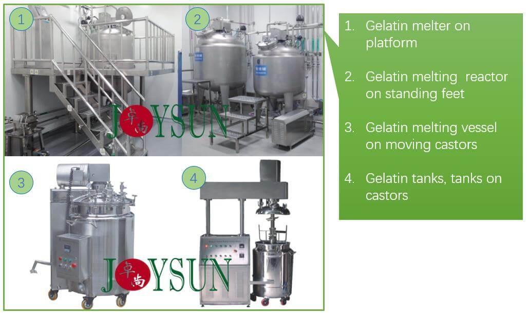 types-of-gelatin-melting-tanks